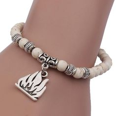 * Penny Deals * - Fashion Women White Infinity Beads Bracelet Tibet ,KESEE *** Want additional info? Click on the image.