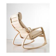 POÄNG Rocking chair - Glose off-white, birch veneer - IKEA