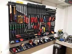 Whats your Work-Bench/lab seem like? Publish some footage of your Lab. Whats your Work-Bench/lab seem like? Publish some footage of your Lab. Garage Workshop Organization, Garage Tool Storage, Garage Shed, Workshop Storage, Garage Tools, Shed Storage, Garage Tool Organization, Lumber Storage, Garage Workbench