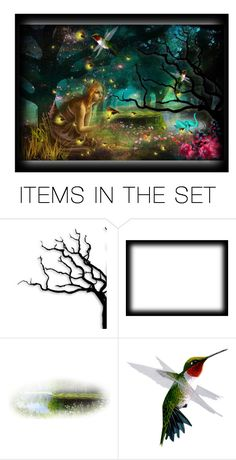 """Firefly Forest Four"" by thresholdpaperart ❤ liked on Polyvore featuring art"