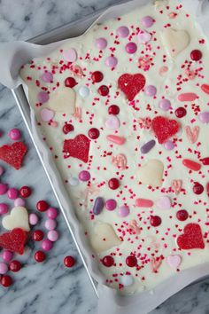 Valentine Crispy Chocolate Bark