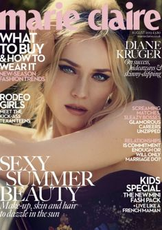 Diane Kruger for Marie Claire UK