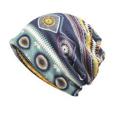 19c4fcc4237 Women Print Beanie Hats Comfortable Multi-function Scarf Casual Windproof  Visor Hats is designer