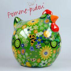 Pomme Pidou Huhn grün Blumen