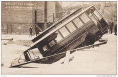 RP: Trolly Car Accident , KINGSTON , New York , Feb. 19 , 1907 - Delcampe.com