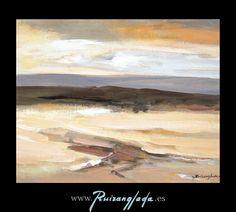 Ruizanglada (1929-2001). Tierras del bajo Aragón 41x33cm. Óleo sobre tabla 1999. Colección particular.