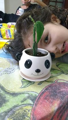 Vaso panda e minha bebê fofa