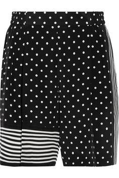 STELLA MCCARTNEY Zandra printed silk crepe de chine shorts.   stellamccartney  cloth  shorts d10882056
