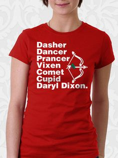 Santa's Helper T-Shirt – FishbiscuitDesigns #thewalkingdead #daryldixon