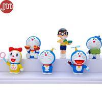 New 6pcs Doraemon Toys Morning Style 6-7cm Anime Baby Dolls Micro Landscape…