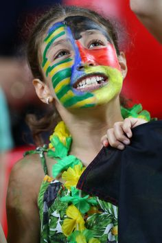 Brazil fan before the Women Wheelchair Basketball match between Germany and Brazil at the Olympic Arena on Day 2 of the Rio 2016 Paralympic Games on September 9, 2016 in Rio de Janeiro, Brazil.