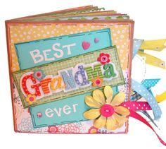 Grandma Scrapbook - Paper Bag Photo Album