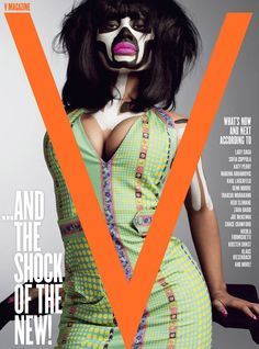 Loving this issue of V Magazine featuring Nicki Minaj. Seriously the most talented female rapper ever. She puts Lil Kim to shame. V Magazine, Magazine Covers, Modern Tribe, Nicki Minaj Pictures, Paint Themes, Magazine Design Inspiration, Ethnic Outfits, Black Cover, Album Covers