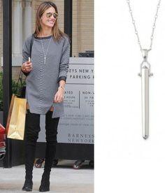 Alessandra Ambrosio Wearing Our Rebel Pendant - Silver www.stelladot.com/shaunapolito