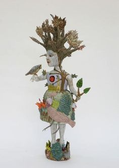 Try with ceramic assemblage American artist Kathy Ruttenberg unfolds a tale in fired clay like an elaborate children's book, an enchanted tale of dogs, birds, goats, ra. Ceramic Sculpture Figurative, Sculpture Clay, Sculpture Ideas, Ceramic Sculptures, Ceramic Figures, Ceramic Art, Ceramic Boxes, Cool Artwork, Amazing Artwork