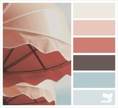 umbrella hues color palette from Design Seeds Blue Colour Palette, Color Palate, Colour Schemes, Color Combos, Color Patterns, Living Colors, Design Textile, Design Seeds, Color Harmony