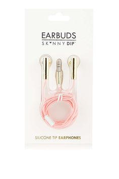 **Coral Glitter Earbuds by Skinnydip