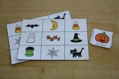 work tasks, sensory tubs and printables for Halloween