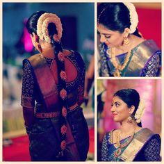 New South Indian Bridal Hairstyles Braids Saree Ideas, Hairstyles … - New Site South Indian Bride Hairstyle, Indian Wedding Hairstyles, Bride Hairstyles, Saree Hairstyles, Saree Wedding, Wedding Bride, Bridal Sarees, Wedding Makeup, Wedding Sherwani