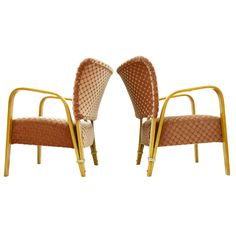 Pair Hugues Steiner Bow Wood Lounge Chairs, France 1948   From a unique collection of antique and modern armchairs at http://www.1stdibs.com/furniture/seating/armchairs/