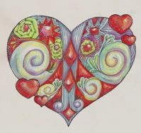 Drawings from Geneviève Crabe's Tangle Journal 2012 -- zentangle heart