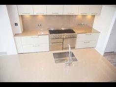 """Silver Sparkle"" Glass Kitchen Worktop & Matching Splashback - CreoGlass - YouTube"