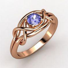 The Infinity Knot Ring #customizable #jewelry #rosegold #tanzanite #ring