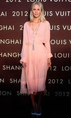 Poppy Delevigne, veryfirstto.com Luxforecast Connoisseur, at Louis Vuittons. Image via Tumblr.