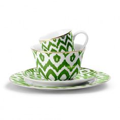 Green Ikat Dinnerware