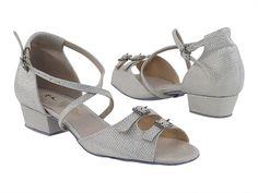 Lisianthus Little Kid Latin Sparkling Ankle Strap Shoes