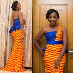 Stunning Kente Styles For Your Engagements – Rendy Trendy African Wedding Dress, African Print Dresses, African Print Fashion, African Fashion Dresses, African Attire, African Wear, African Women, African Dress, African Prints