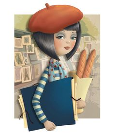 I am so excited to introduce you to the work of illustrator Nina De San. The majority of her portfolio utilizes themes and a vintage color palette, but she does pull elements from other decades… Art And Illustration, Illustration Parisienne, Illustrations, Vintage Colour Palette, Vintage Colors, Holly Hobbie, Art Graphique, Creative Activities, Cute Art