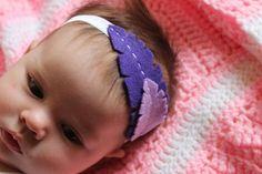 DIY Baby Feather Headband | Love Create Celebrate #newborn #baby #DIY #craft #felt #hair #feather #flower #headband