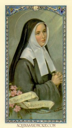 Prayer to Saint Bernadette Prayer Card