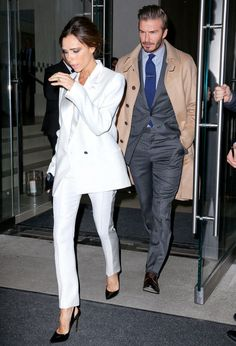 Victoria Beckham's colorful and fresh take on workwear has her winning fashion today.