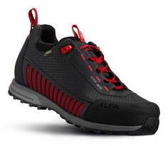 VARDE A/P/S M  Skoen har Alfa Air™ vedlikeholdsfritt yttermateriale med svært gode pusteegenskaer og lav vekt. Fôret med Gore-Tex® Surround. Sålen gir stabilt godt grep på fjell og skogstier. Mellomsåle i EVA som gir lav vekt og gode støtdempende egenskaper. Myk yttersåle med god vridningsstabilitet.