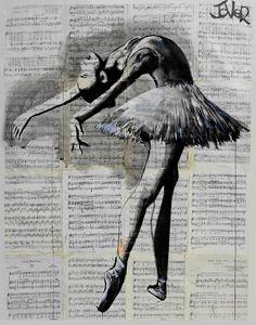 "Saatchi Art Artist: Loui Jover; Ink 2014 Drawing ""poise (SOLD)"""
