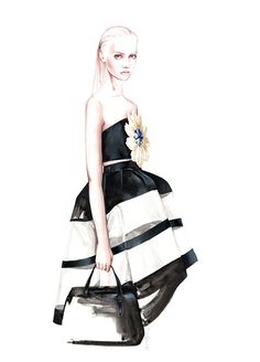 Fashion illustration for Delpozo // Antonio Soares