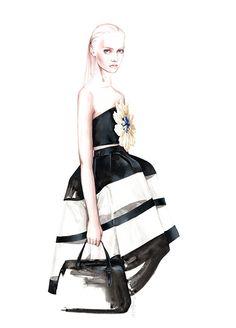 Fashion illustration for Delpozo // Antonio Soares