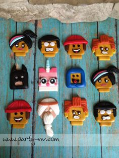 EDIBLE Fondant Toppers  Lego Movie Inspired by PartyNV on Etsy, $39.00