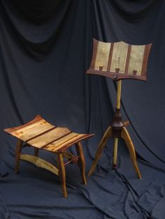 Myrtle and Walnut Music Stand