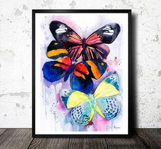 Original Watercolour Painting-Butterflies animal by SlaviART