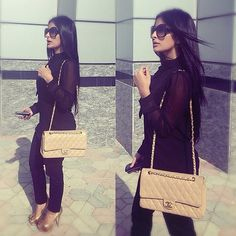 Fashion: pants all black outfit