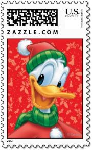 Disney Christmas Stamps | Donald Duck