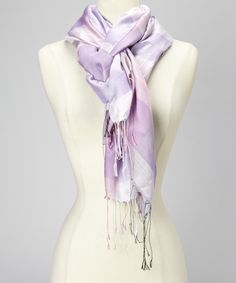 Love this Violet Plaid Silk Scarf by Blue Pacific Fashion on #zulily! #zulilyfinds