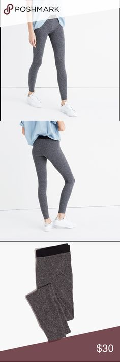 NWT Madewell Knit Leggings - Colorblock Amazing knit leggings by Madewell in color Heather Metal.  Made of soft fabrics in sleek shapes.  Extra-stretchy colorblock leggings are designed to keep their shape wear after wear.  Fitted.  Cotton/Spandex.  I got a pair for myself, and these are the best leggings I've ever had!  Super comfy and a nice snug fit that holds throughout the day. Madewell Pants Leggings