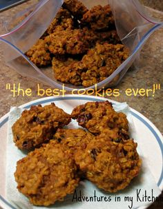 Adventures in my Kitchen: Pumpkin Oatmeal Cookies with Dried Cranberries