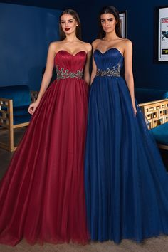 NEW! Marvelous Tulle Sweetheart Neckline A-line Evening Dress With Beadings