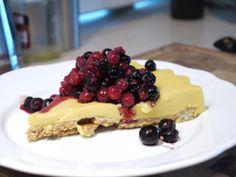 RECETA FITNESS/ Cake crujiente de vainilla con arándanos