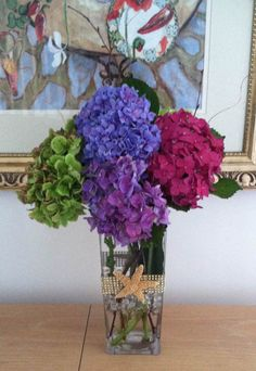Nancy's Response.... to receiving Hydrangea from us last weekend in Virginia Beach VA. Jim,...Thank you so much for the stunningly, beautiful flowers for my son's rehearsal dinner on Friday October 17th 2014 Here are a few of the arrangements she made...What do you Think ?? Good Job !! Right ??